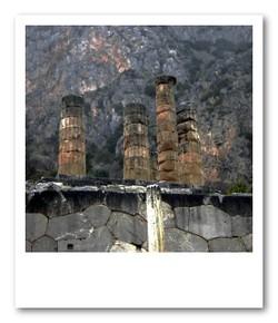 アポロン神殿に残る柱