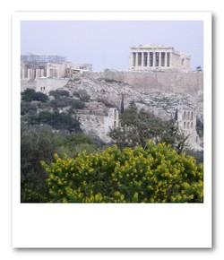 フィロパポスの丘から眺めるパルテノン神殿