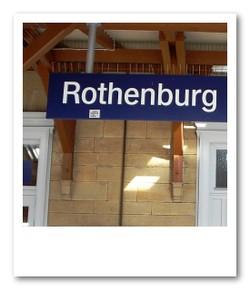 ローテンブルク駅着