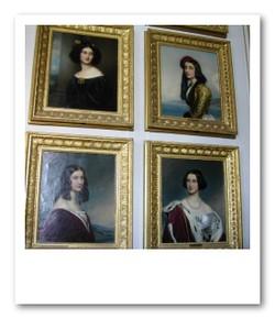 ニンフェンブルク城の美人たち