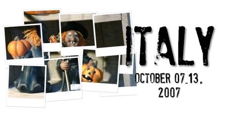 イタリア旅行記-2007-
