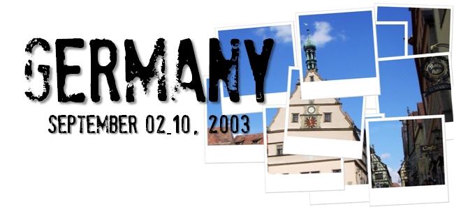 ドイツ旅行記-2003-