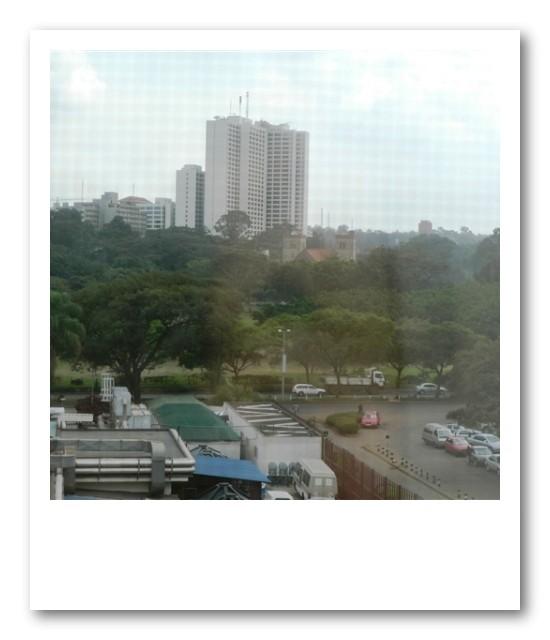 ホテルから見たナイロビの街