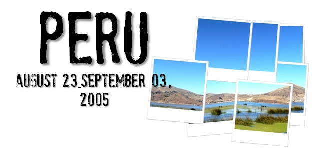 ペルー旅行記-2005-